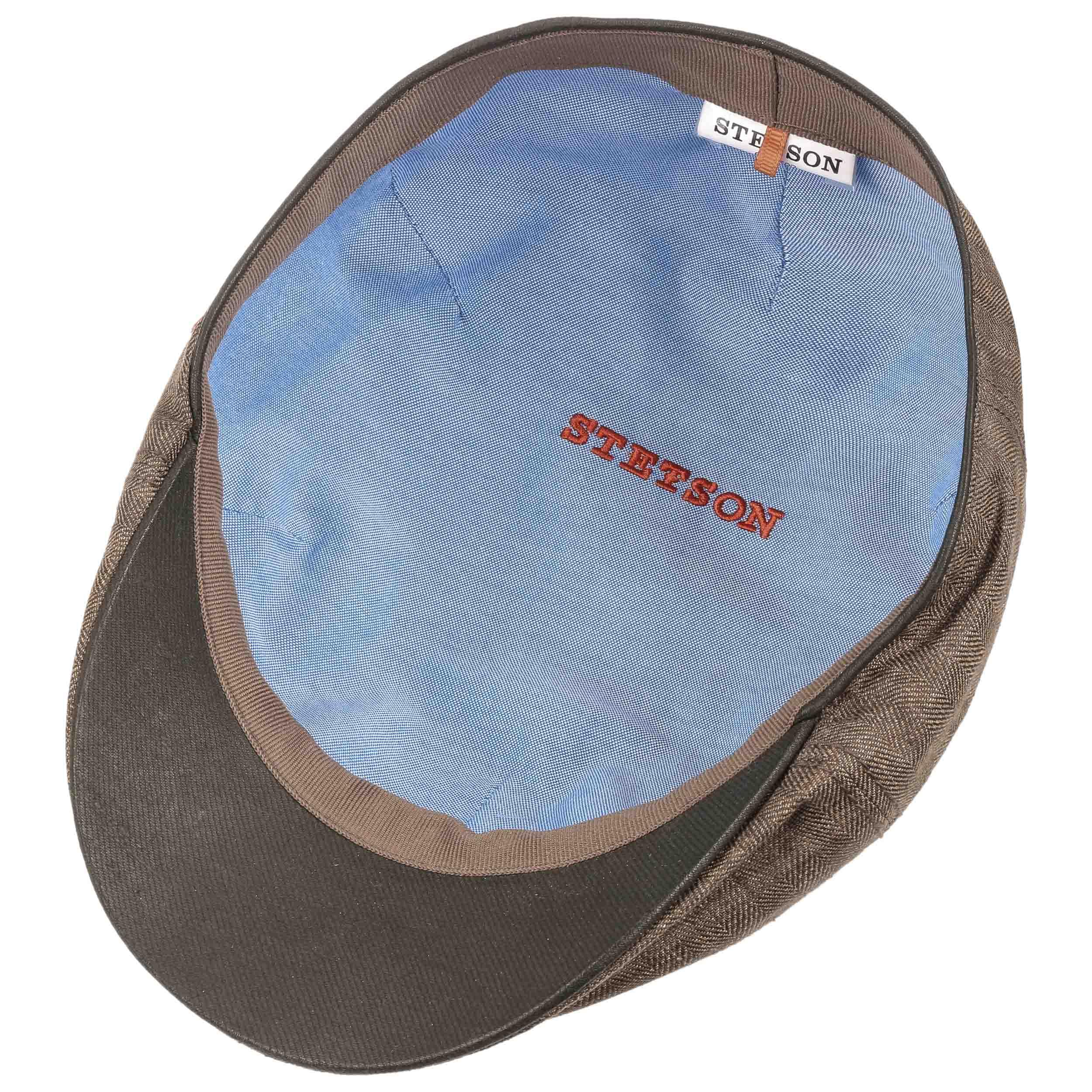 e76a36d02526f ... Texas Coated Linen Flat Cap by Stetson - brown 2 ...