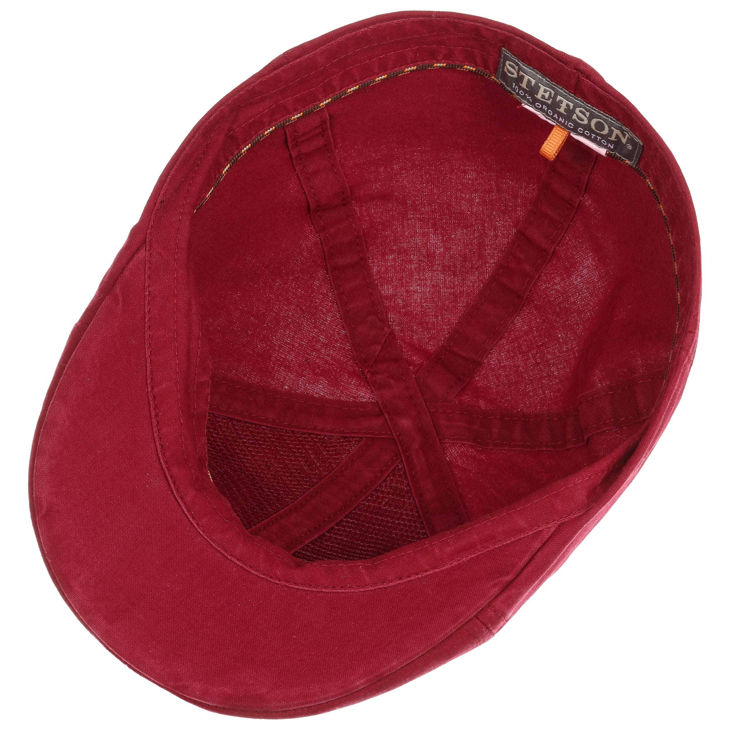 388077e8429fc ... amazon texas organic cotton flat cap by stetson bordeaux 2 277a5 49a3d