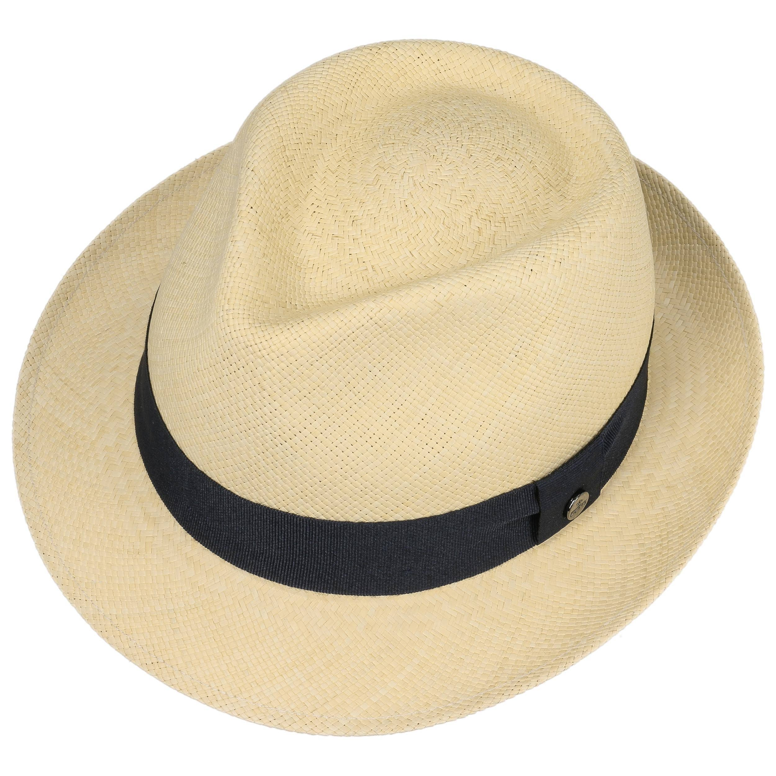 f22c3037c3c ... The Trilby Panama Hat by Lierys - nature-navy 1 ...