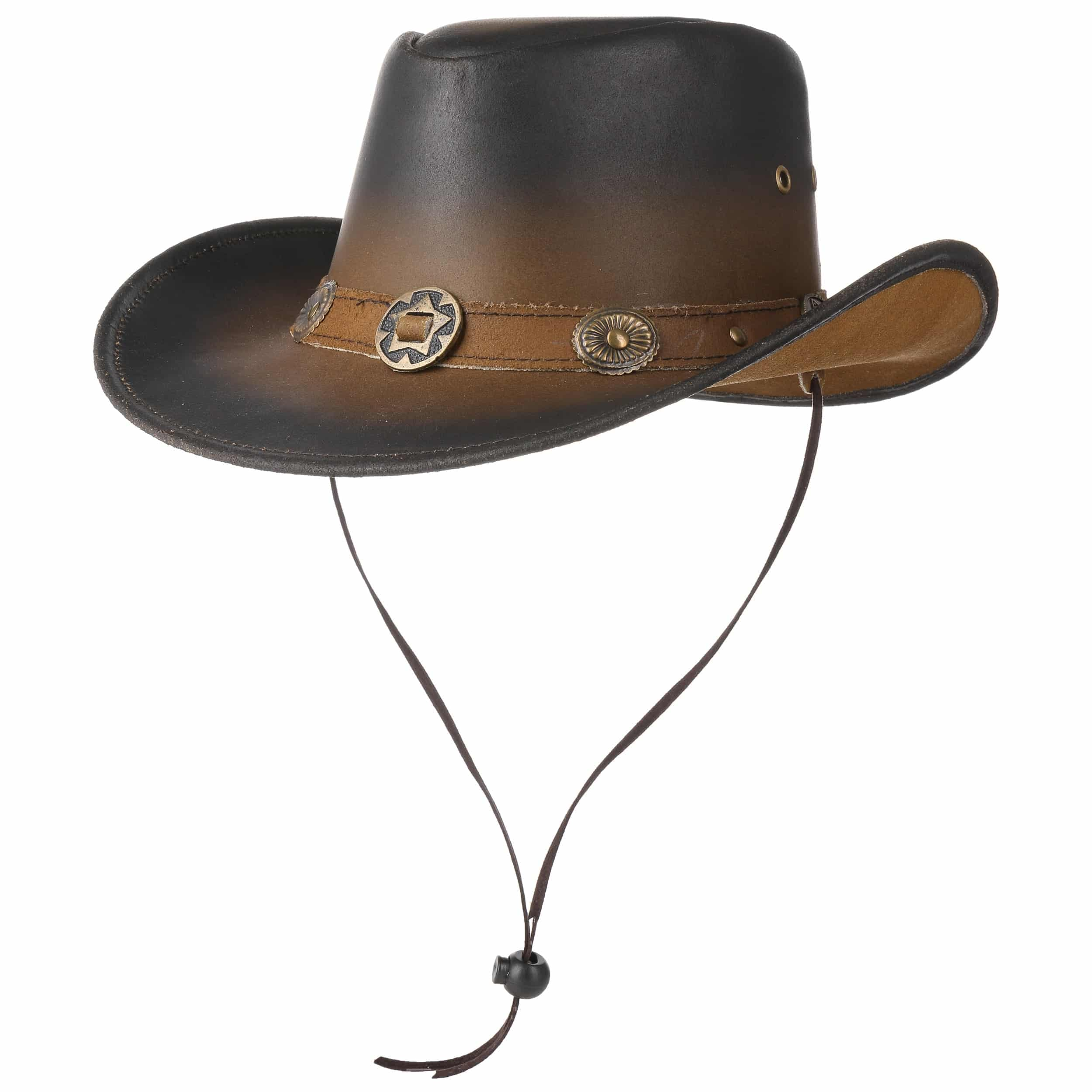 a01cea4025270 ... Tombstone Leather Hat - brown 5