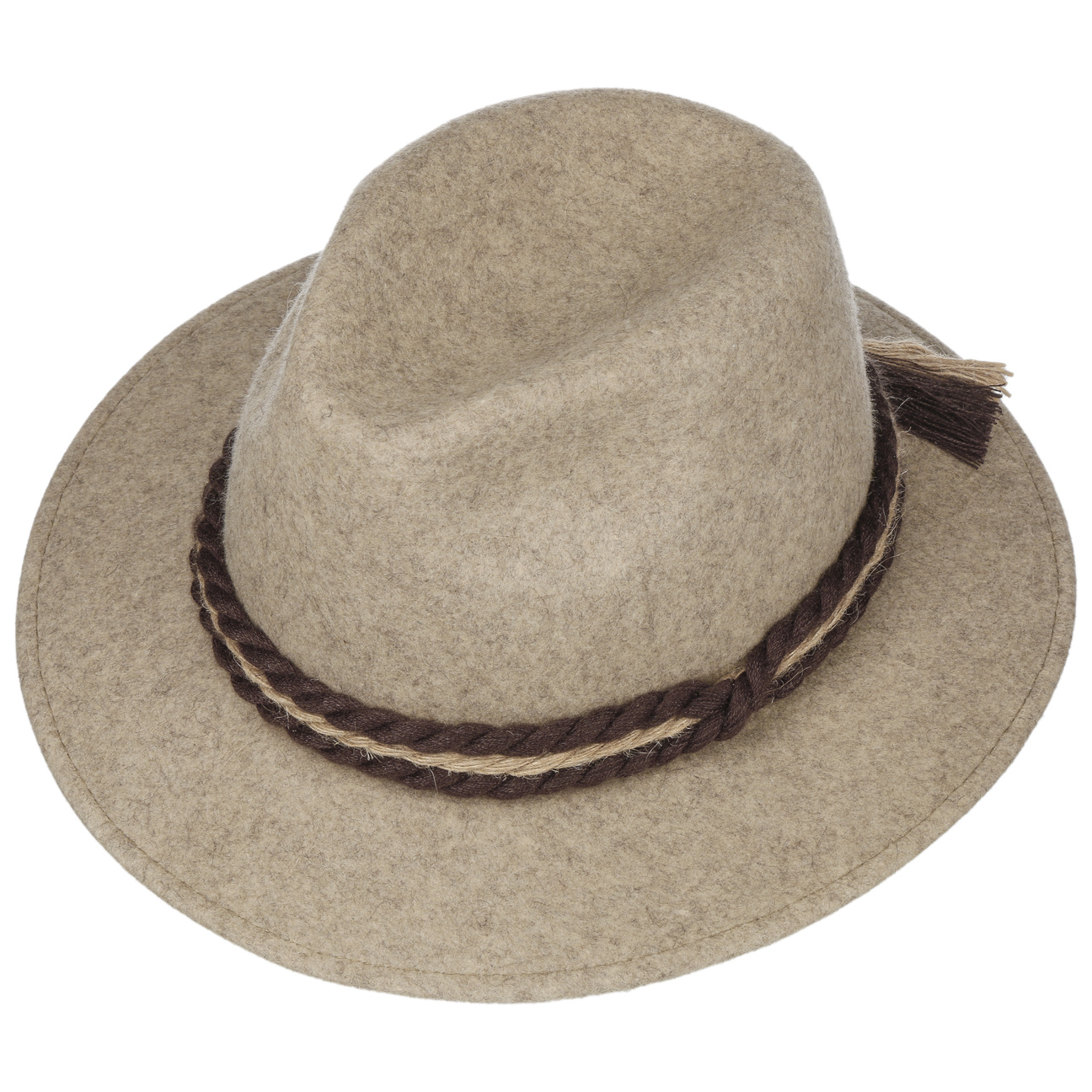 ... Traditional Tyrolean Wool Felt Hat - beige 2 ... a668464def6