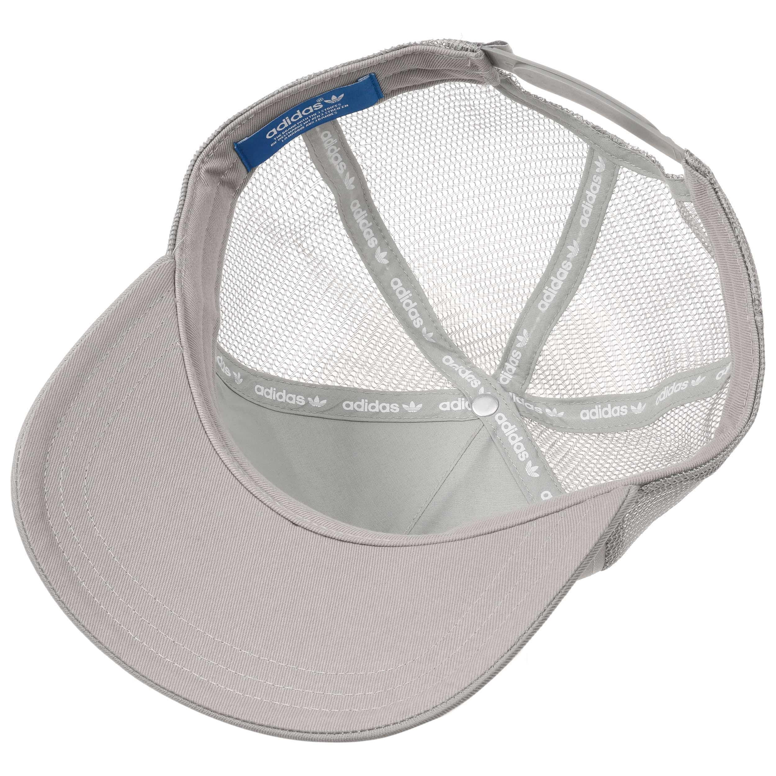 ... Trefoil Trucker Cap by adidas - grey 3 ... 667fe782cb76