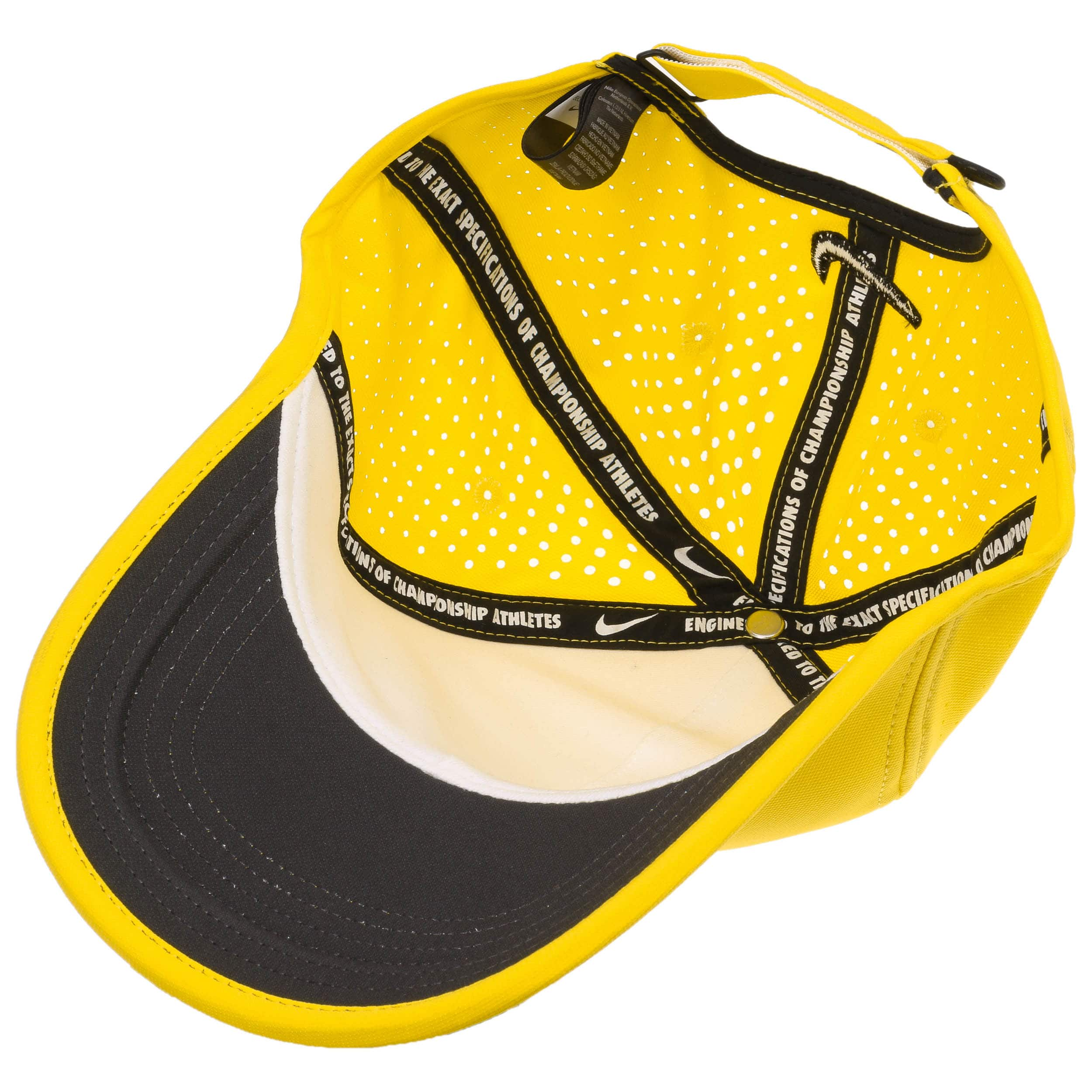 53eb5d54fde ... Ultralight Tour Perforation Cap by Nike - yellow 2 ...
