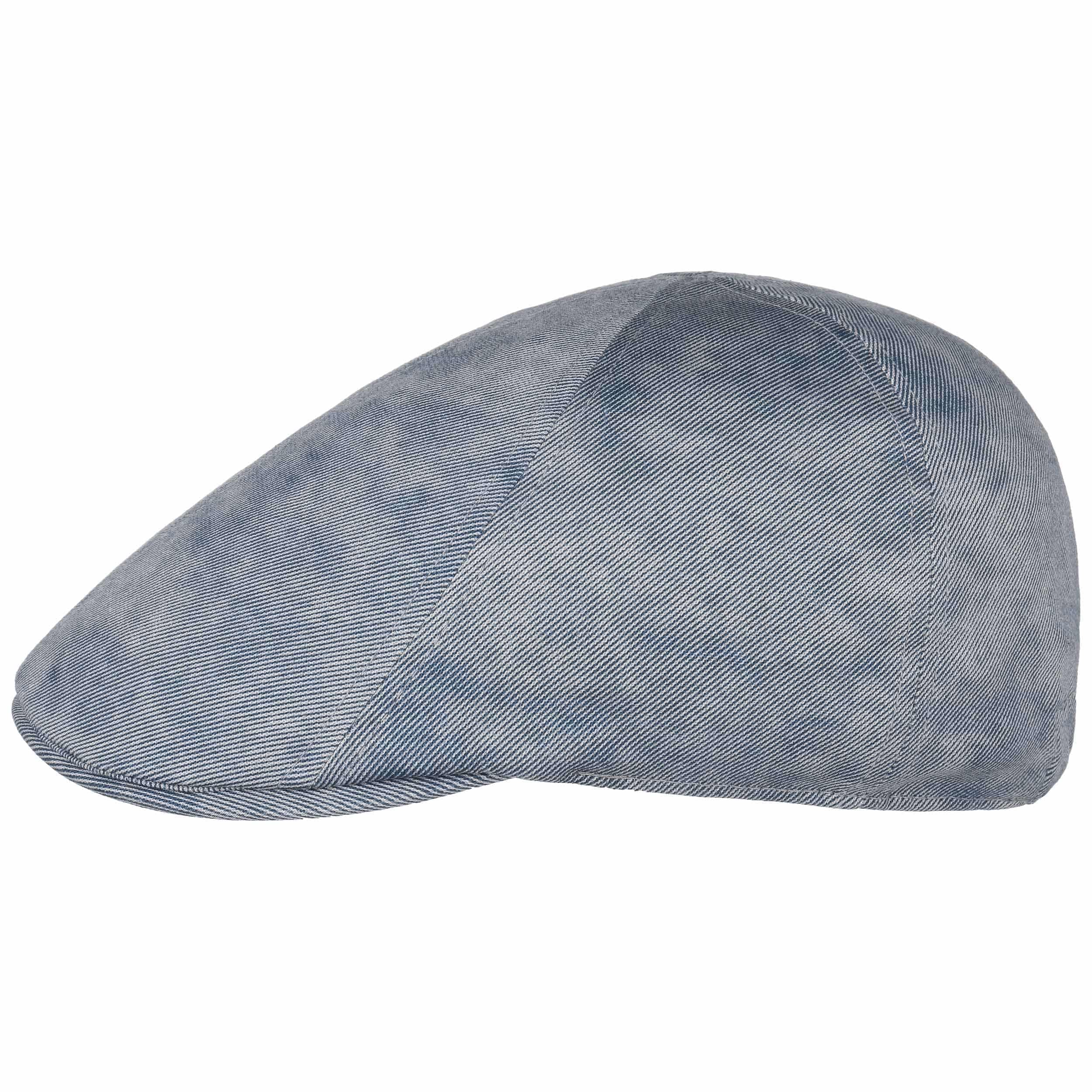 ... Used Denim Mélange Flat Cap by Lipodo - blue-mottled 4 ec3889e3755