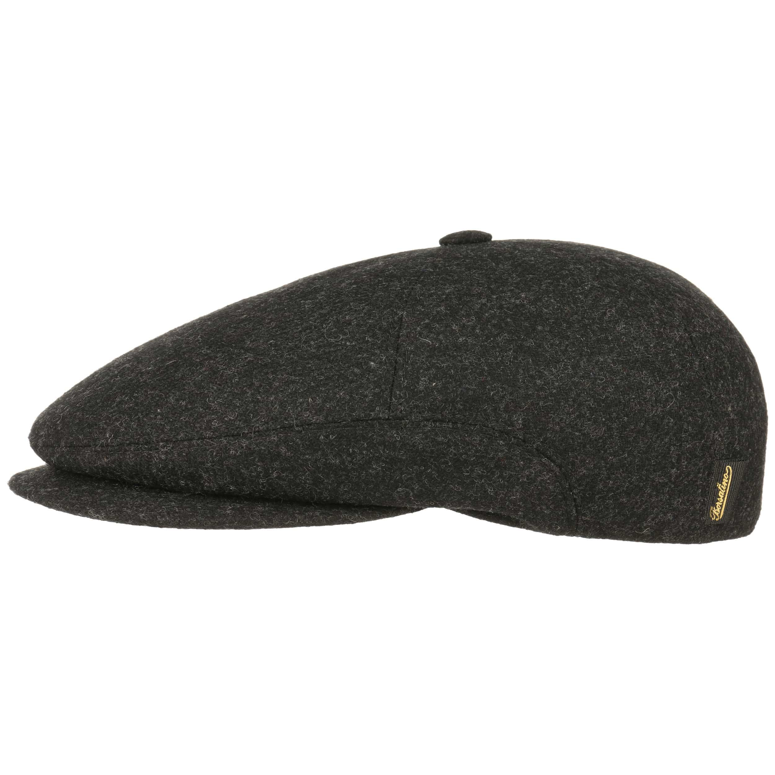 ... Vincent Wool Flat Cap by Borsalino - anthracite 1 ... de25545fb7f6