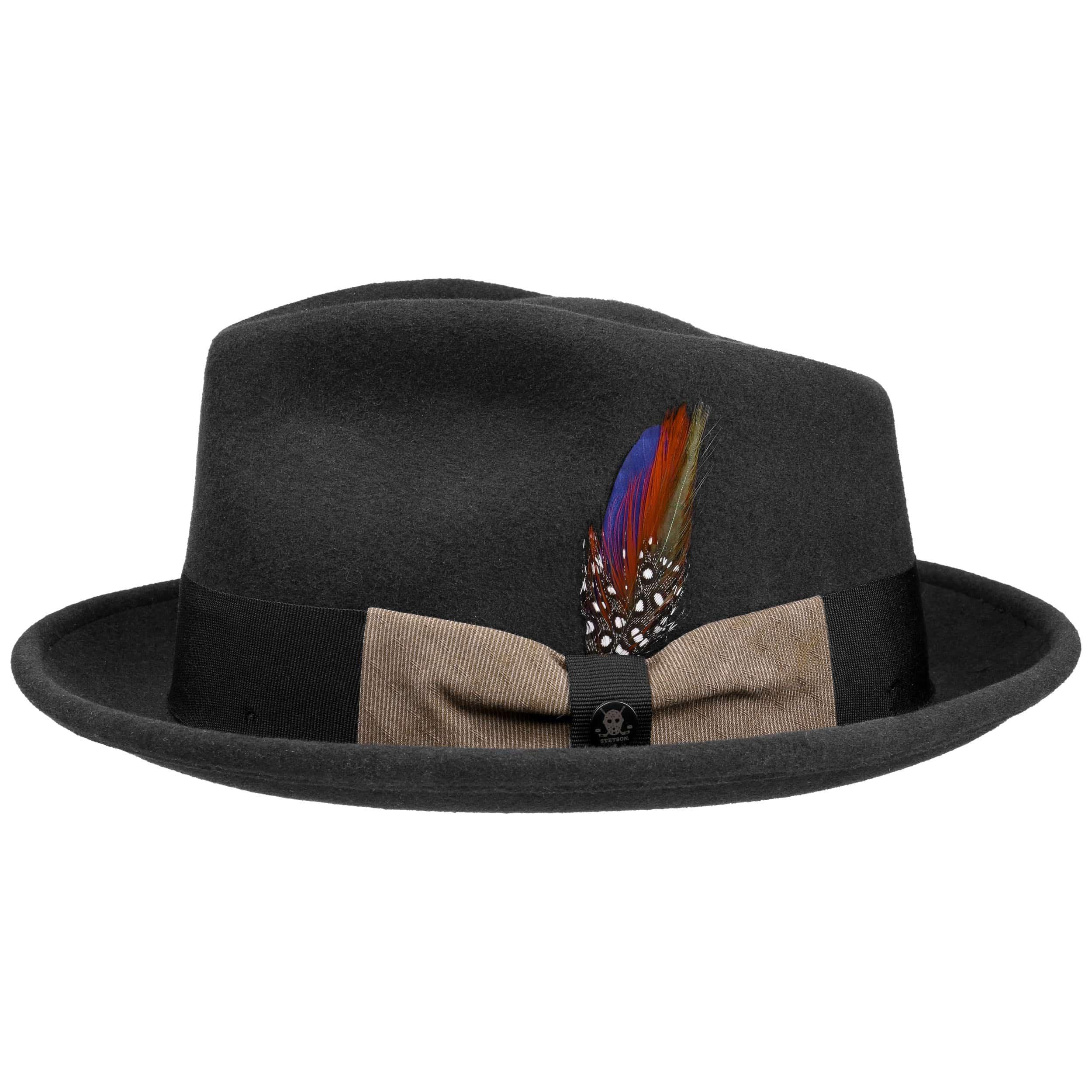 6a44263719f3d6 ... Virgi Wool Felt Trilby Hat by Stetson - black 5 ...