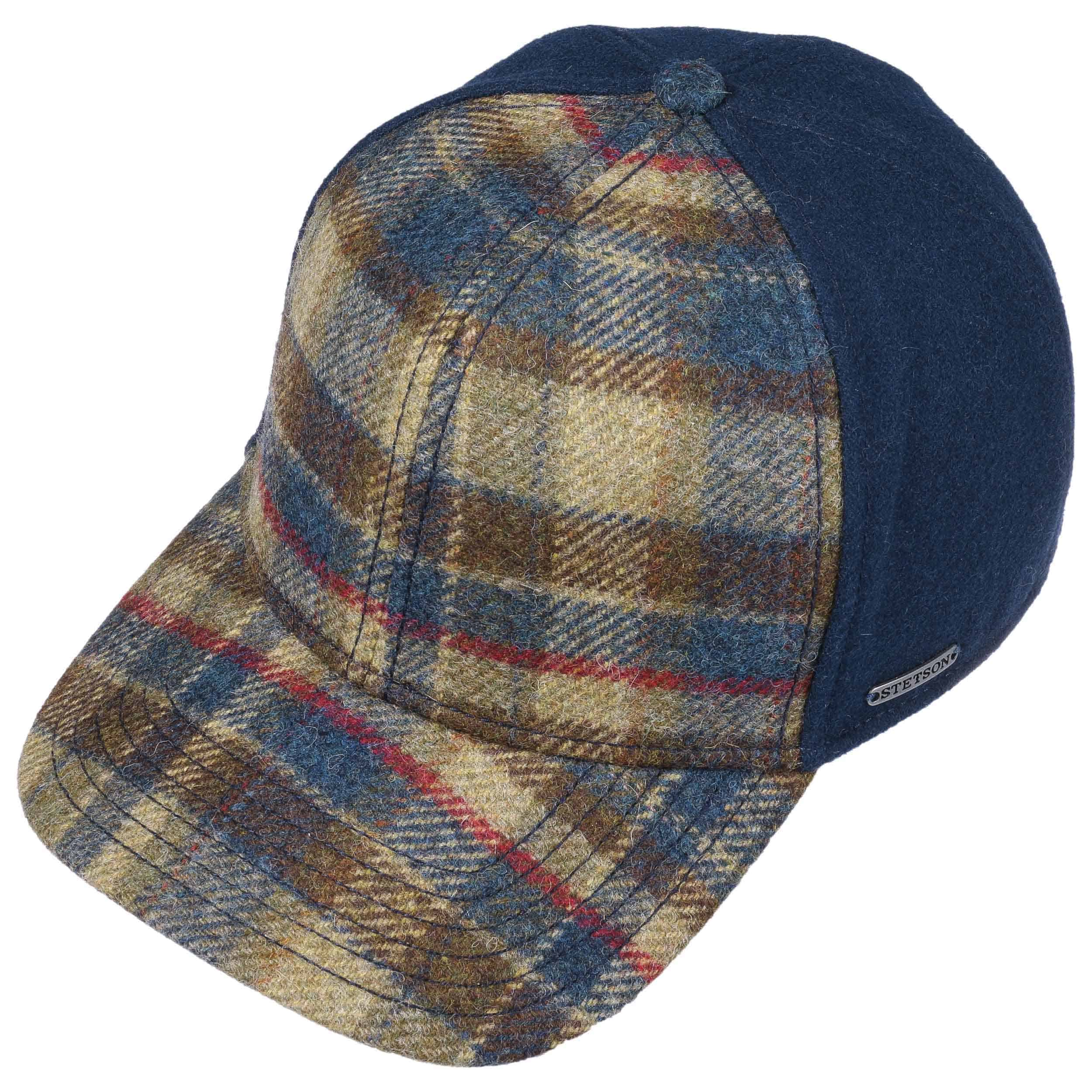 2634d27e642742 Virgin Wool Check Cap by Stetson - blue 1 ...