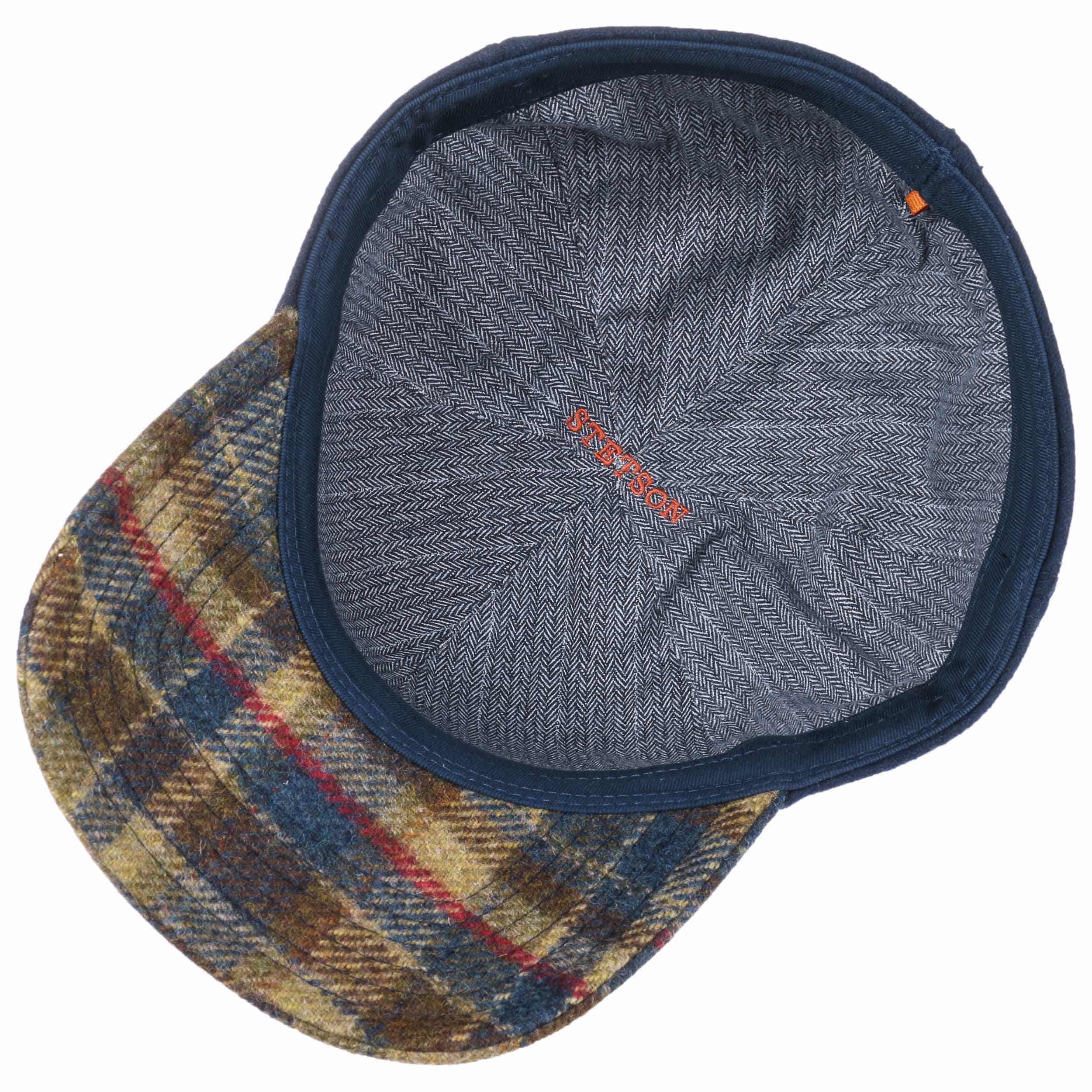 f592cb139756ff ... Virgin Wool Check Cap by Stetson - blue 2 ...