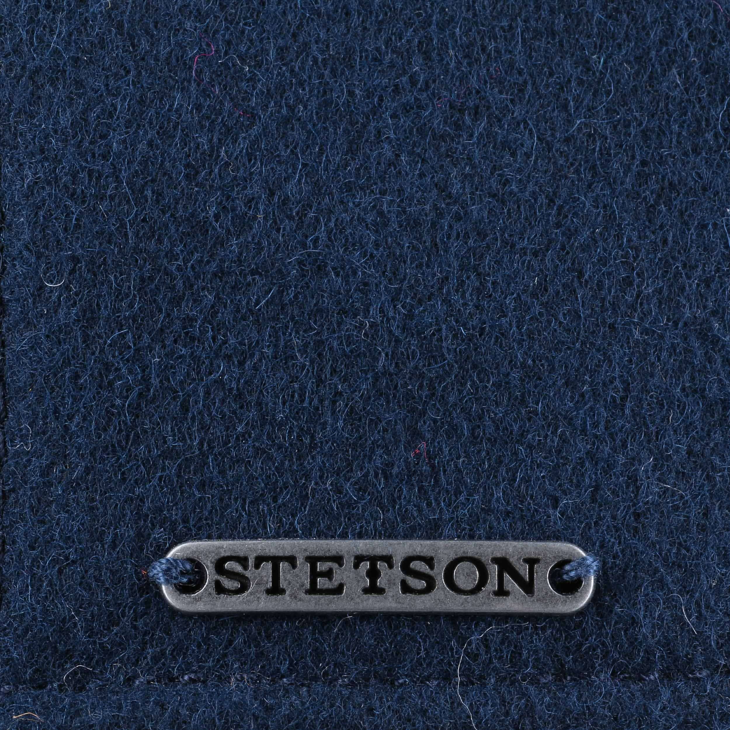 bfd0cdedaaa ... Virgin Wool Check Cap by Stetson - blue 3 ...