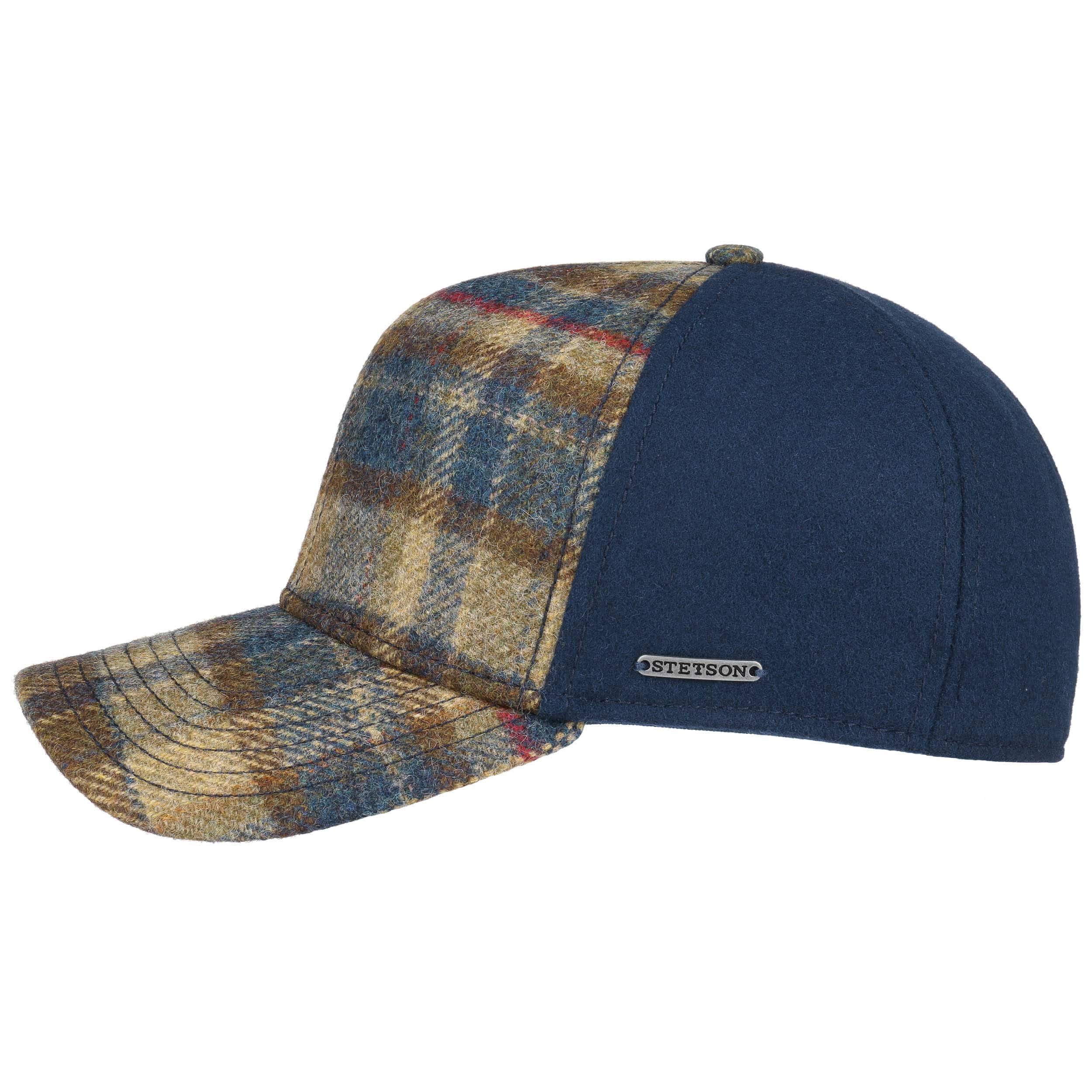 d0725578483 Virgin Wool Check Cap. by Stetson