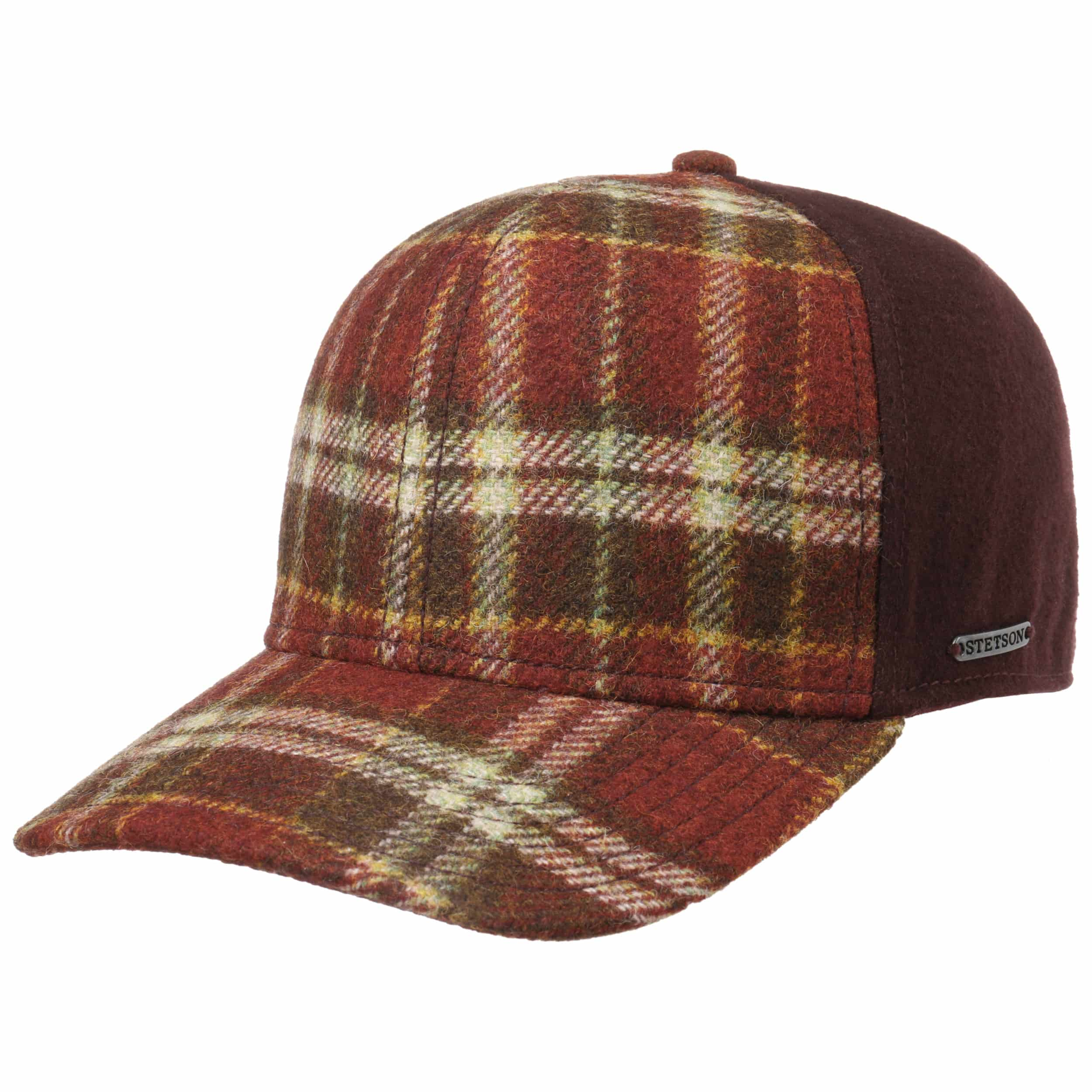 b7332e4235b ... Virgin Wool Check Cap by Stetson - red 1. 49 ...