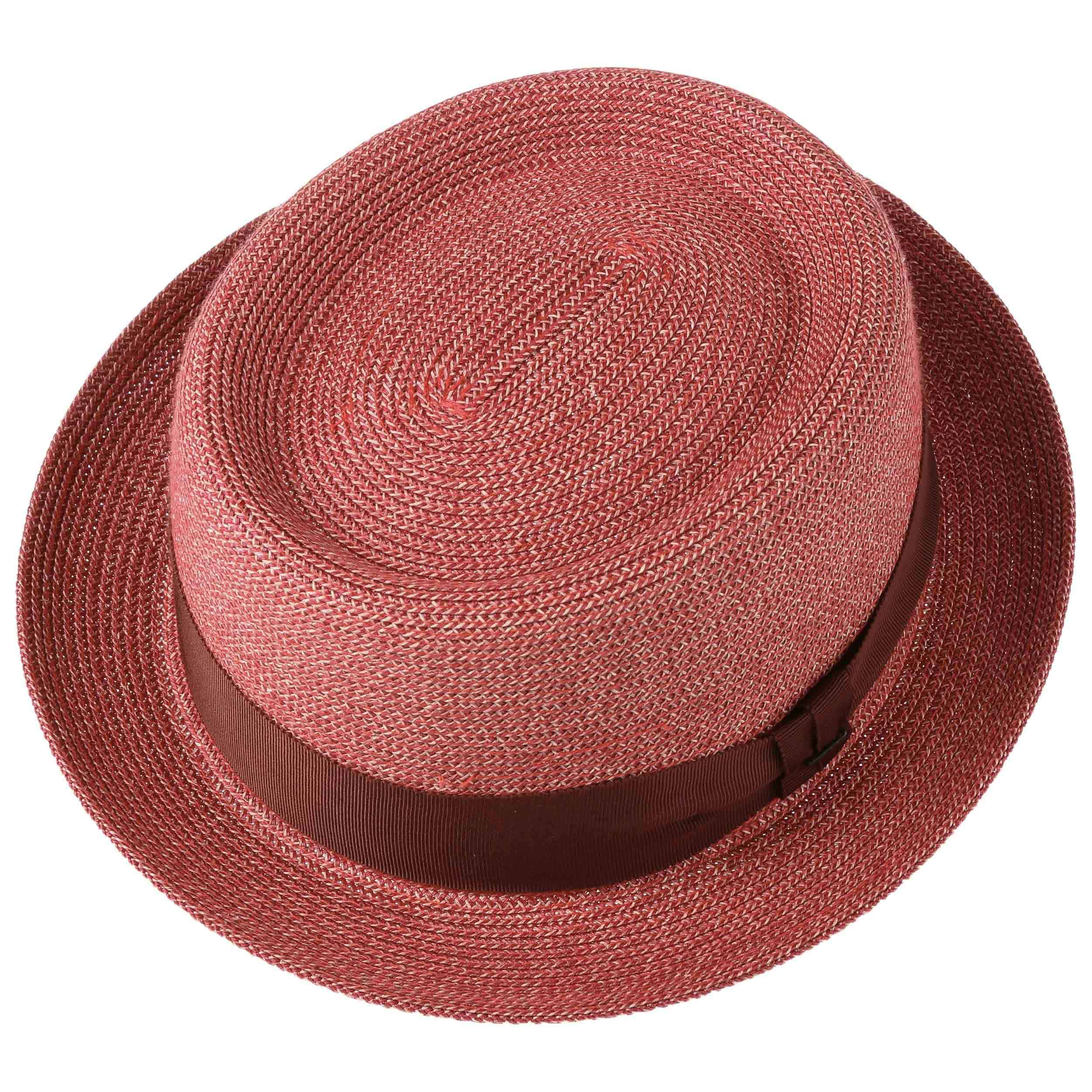73edca9153b6ce ... Waits Pork Pie Hat by Bailey of Hollywood - red-mottled 1 ...
