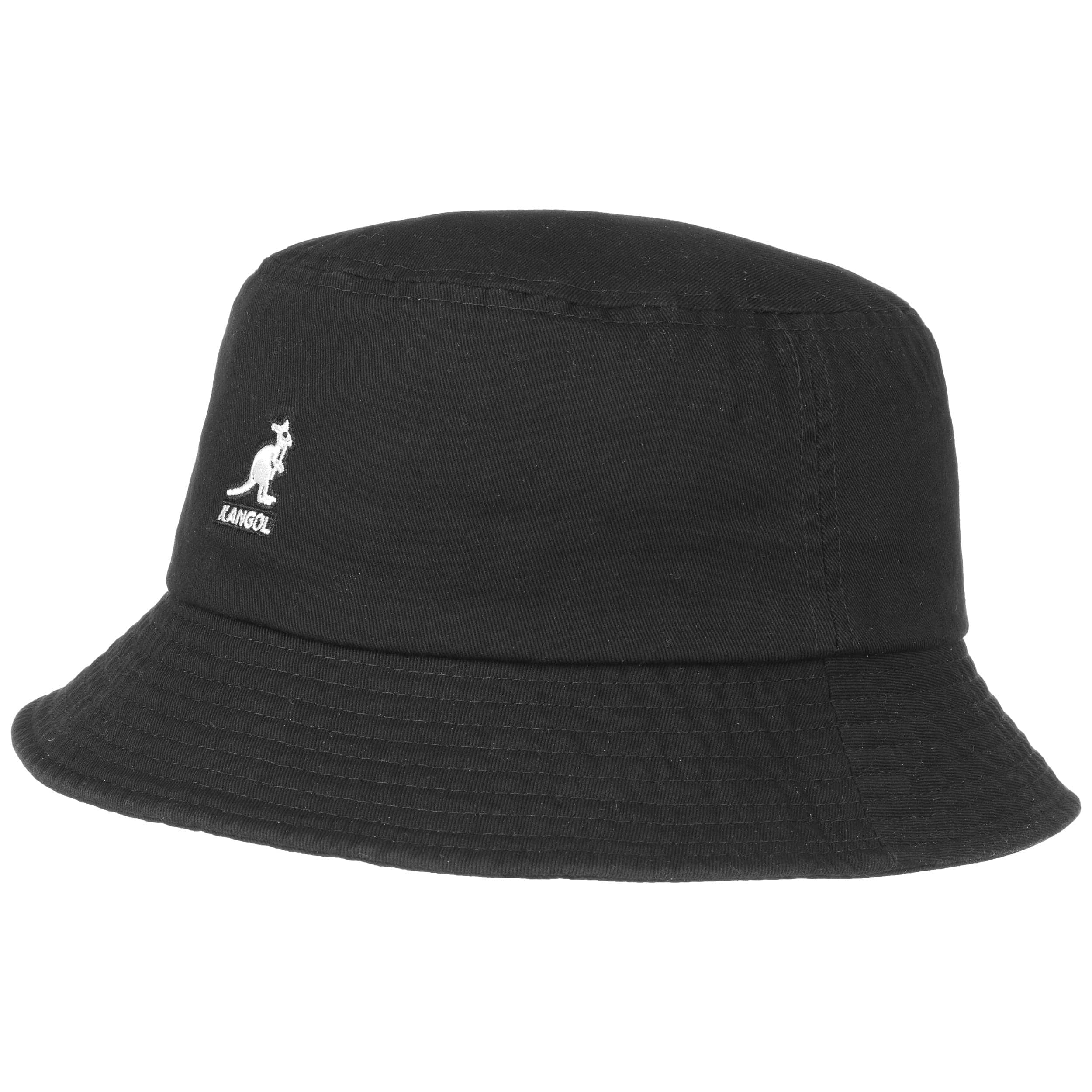 ... Washed Bucket Hat by Kangol - black 5 ... ab343383227