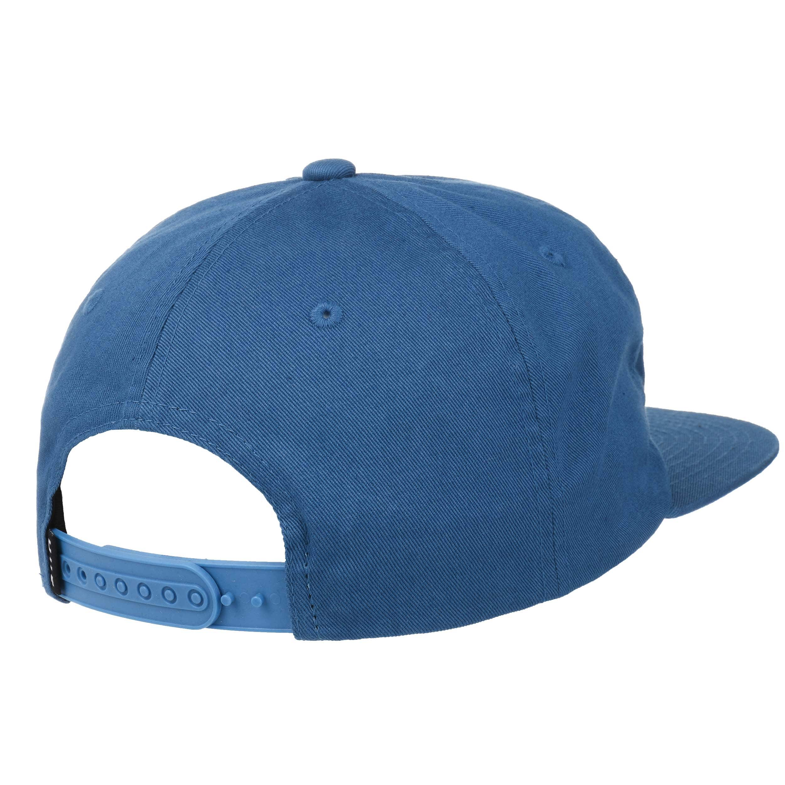 66199e8e78f ... Washed Logo Snapback Cap by HUF - blue 3 ...