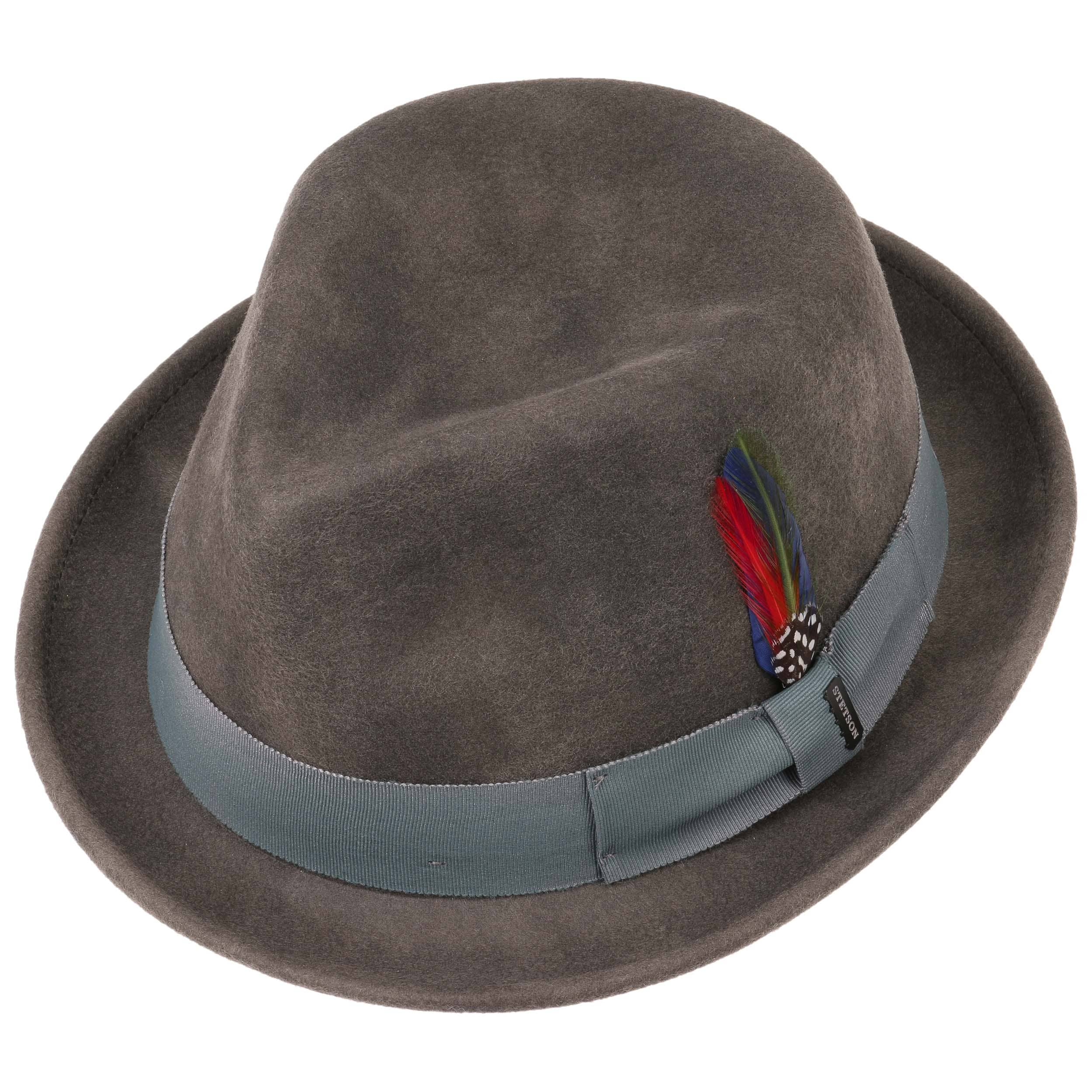 749253777bf Washed Look Fedora Felt Hat by Stetson - grey 1 ...