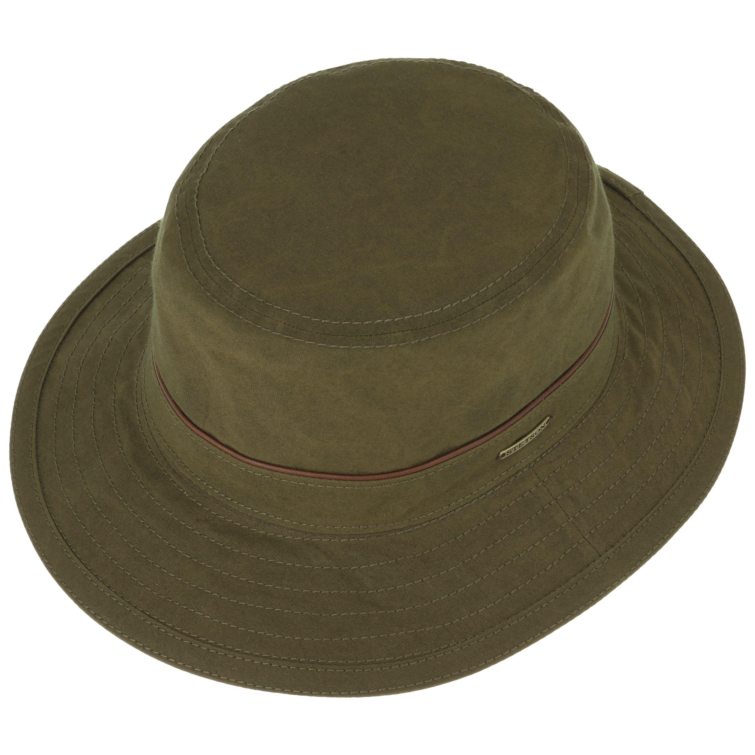 Waxed Cotton Bucket Outdoor Hat by Stetson Bucket hats Stetson HpRjZQt8rC