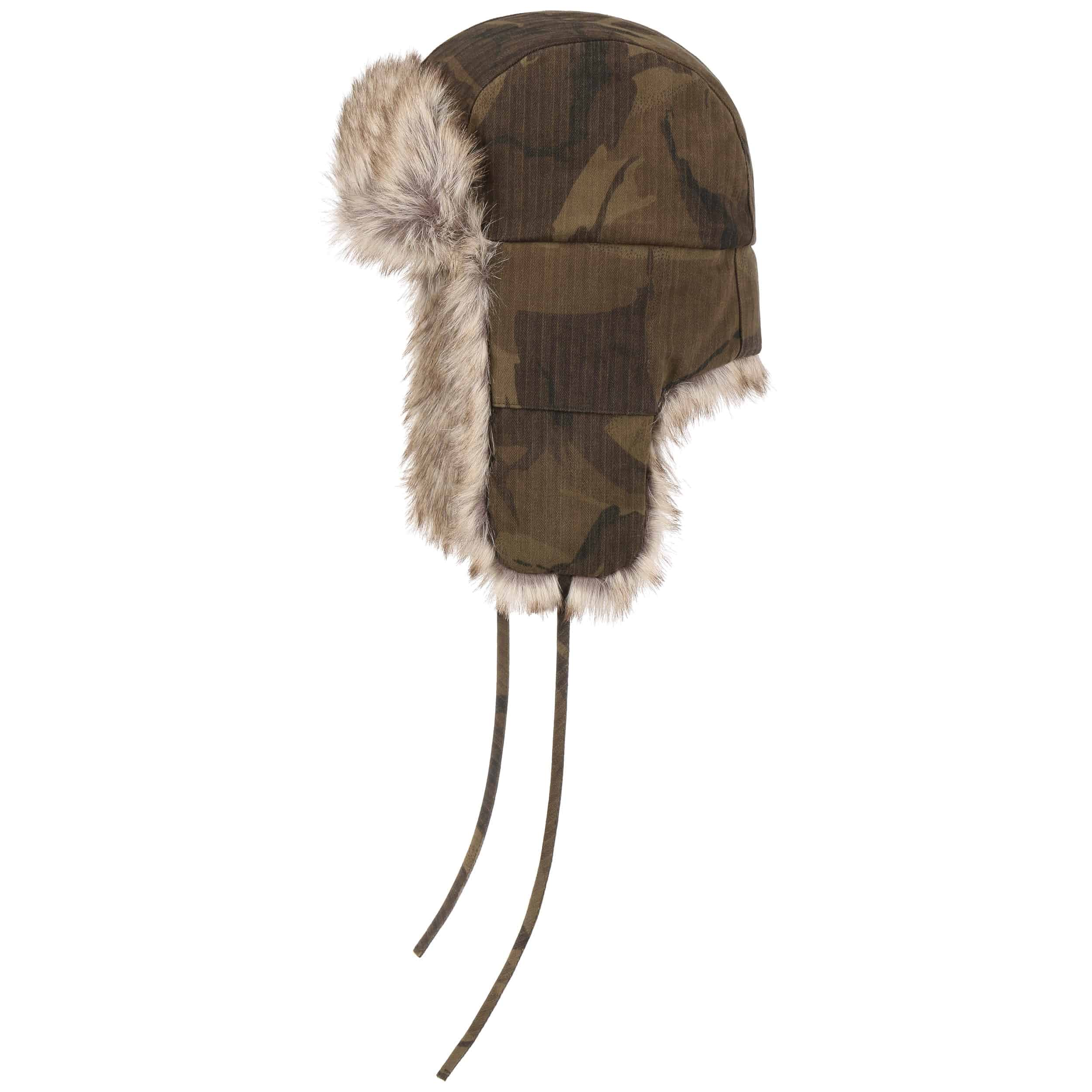 Waxed Cotton Camouflage Aviator Hat. by Stetson 969a1846136