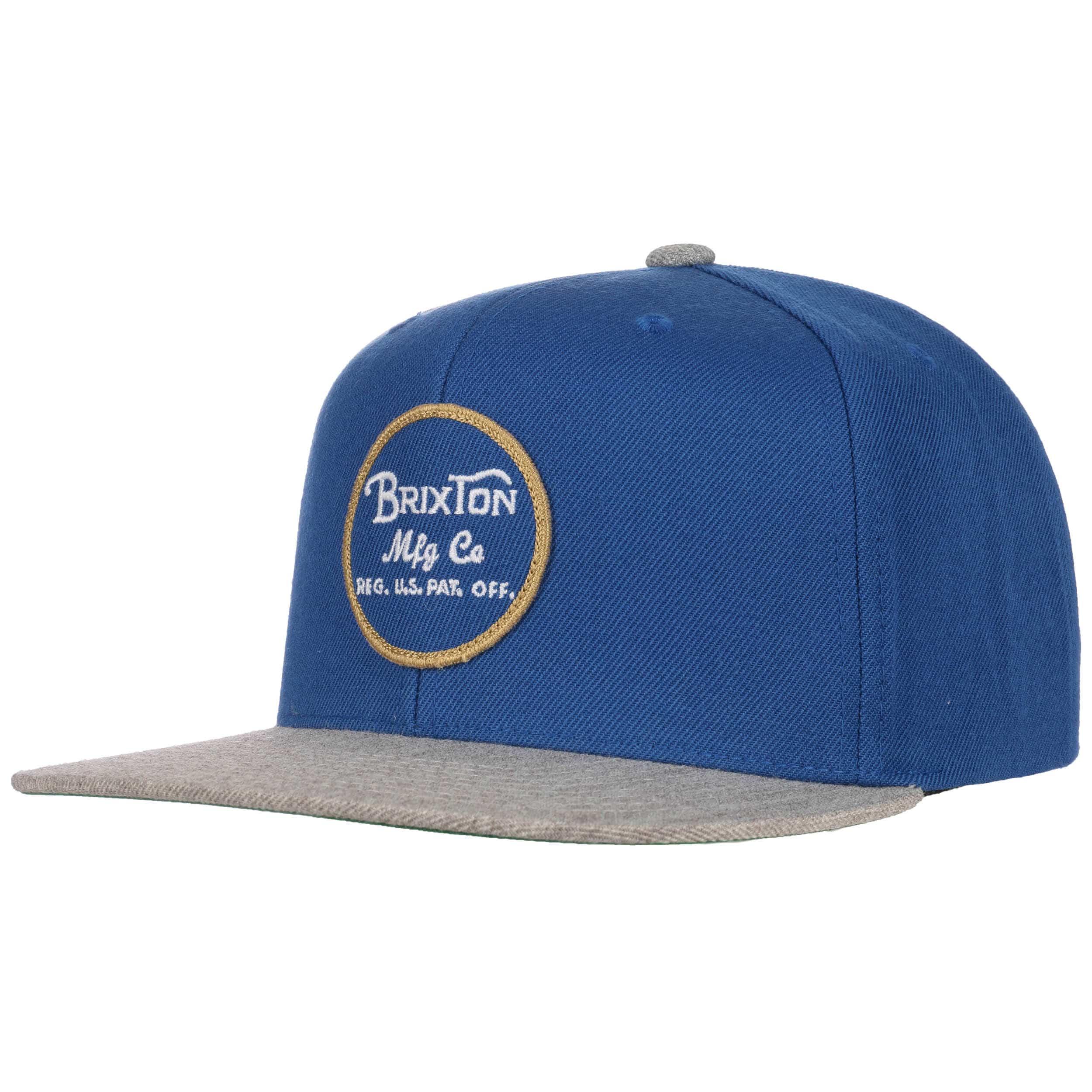 hot sale online 9d7c5 63b00 ... best wheeler snapback cap by brixton blue grey 2 fc6d7 40d51