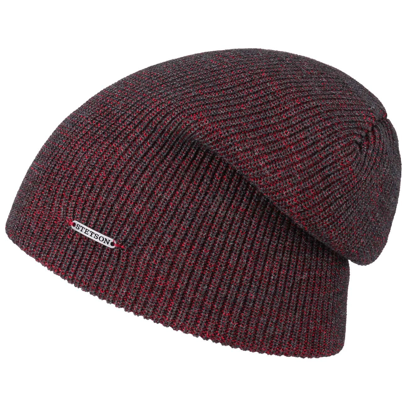 d5e2a3917f520 ... Wisconsin Merino Long Beanie by Stetson - red 3