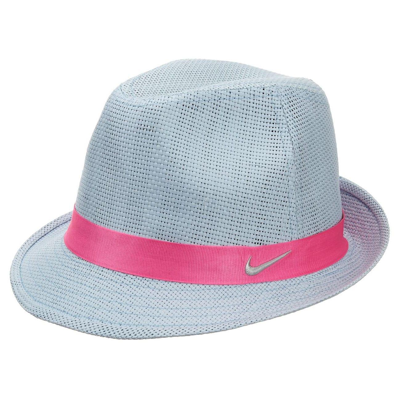 Women´s Golf Fedora Straw Hat by Nike - light blue 1 d728d1cf1b3