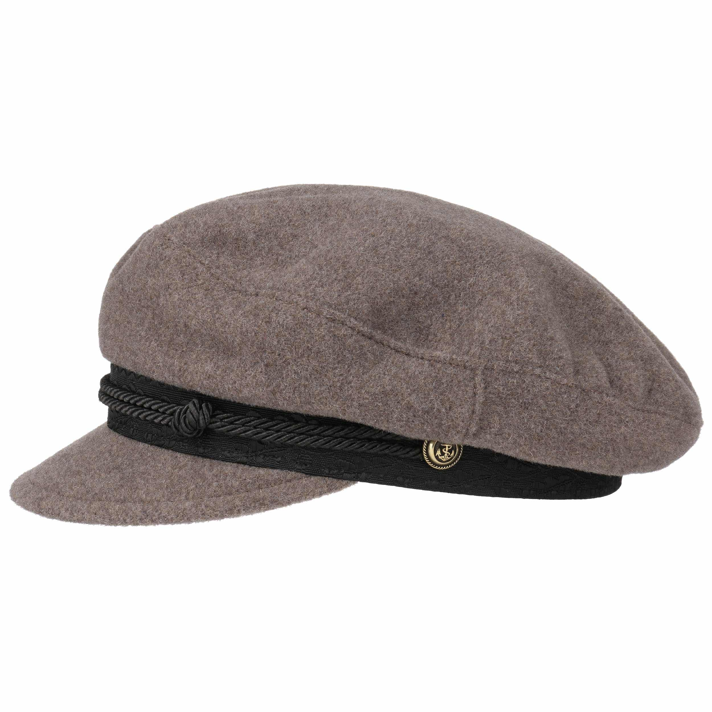 dee78ac0569b1 ... Wool Cashmere Riders Cap by Stetson - taupe 1 ...