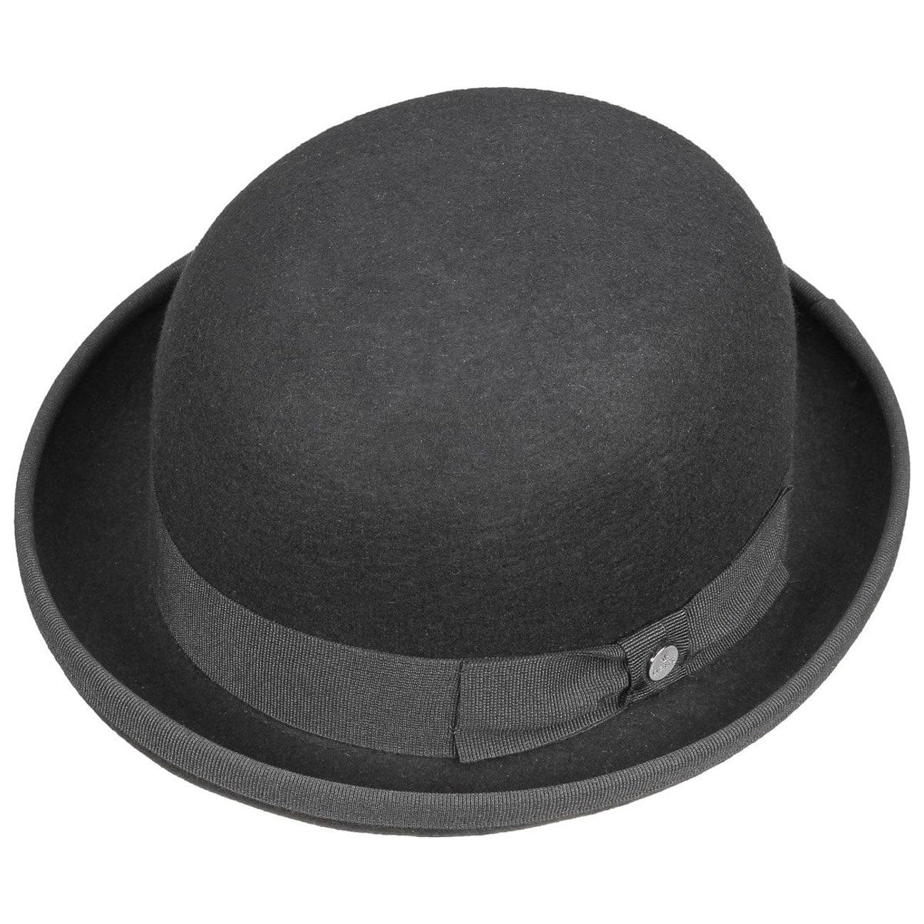 a678d50bcbd0a4 ... Wool Felt Bowler Hat Uni by Lierys - black 2 ...