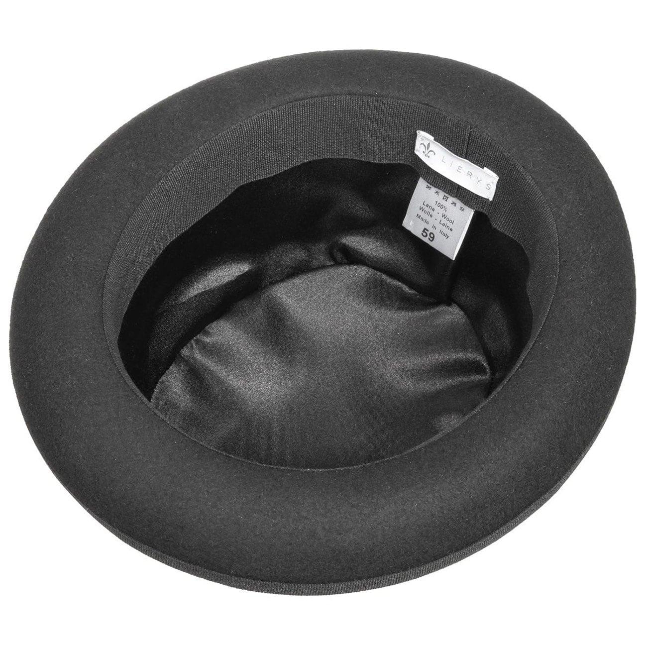 9d4f3bac83407b ... Wool Felt Bowler Hat Uni by Lierys - black 3 ...