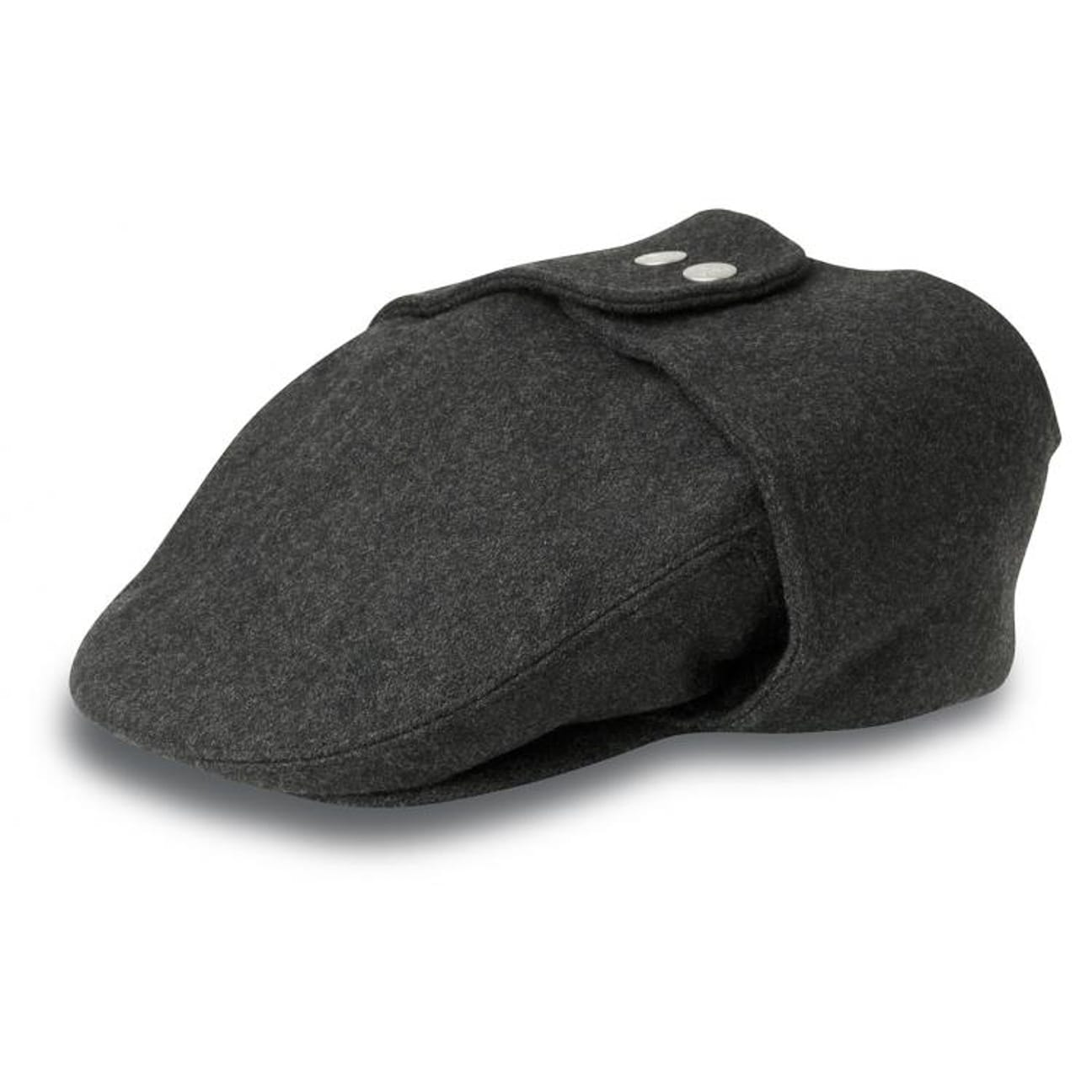 a31a22485eb Kangol Wool 504 Earflaps Flat Cap - Black from Village Hats.