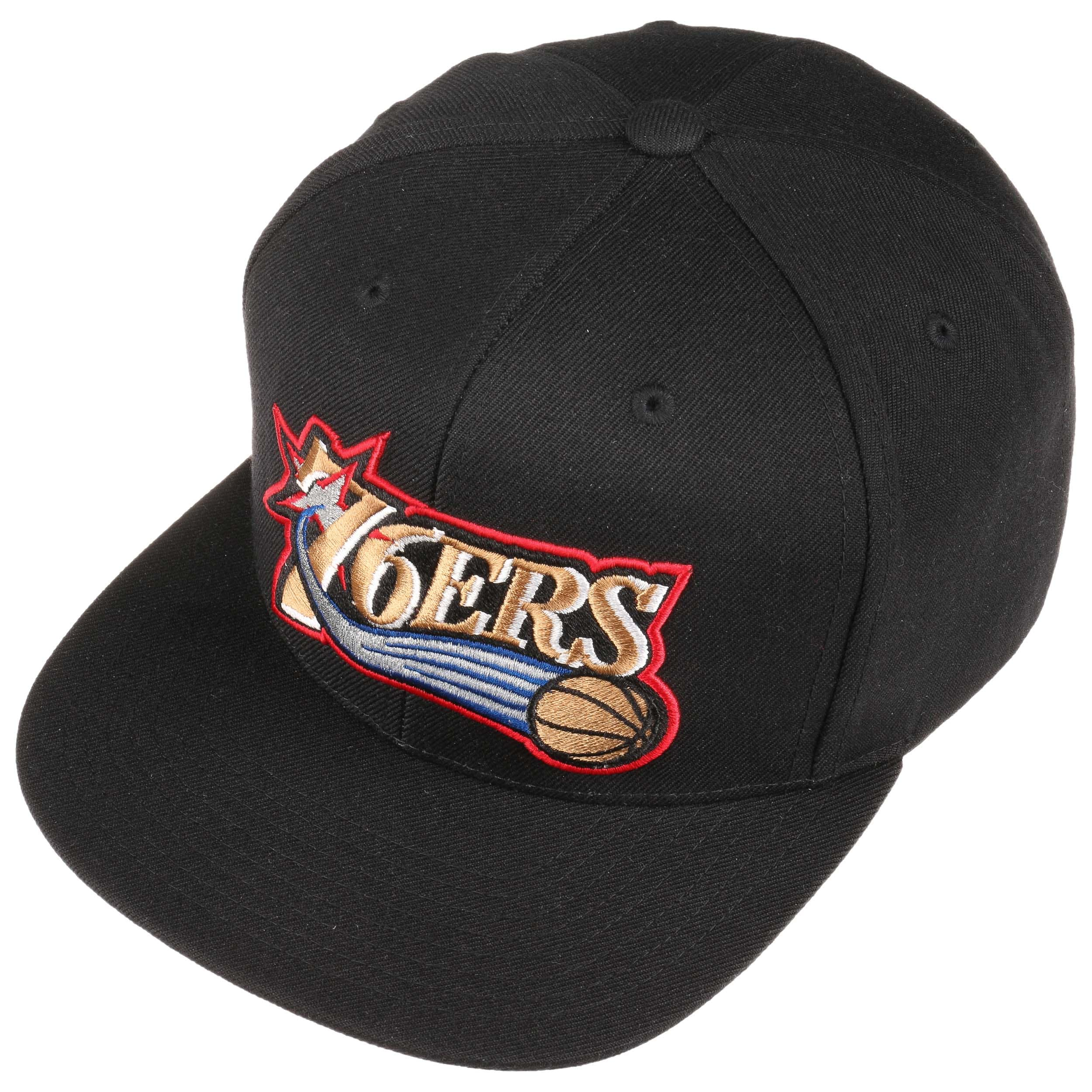 on sale 05ecd ef4a2 Wool Solid 76ers Cap by Mitchell   Ness - black 1 ...