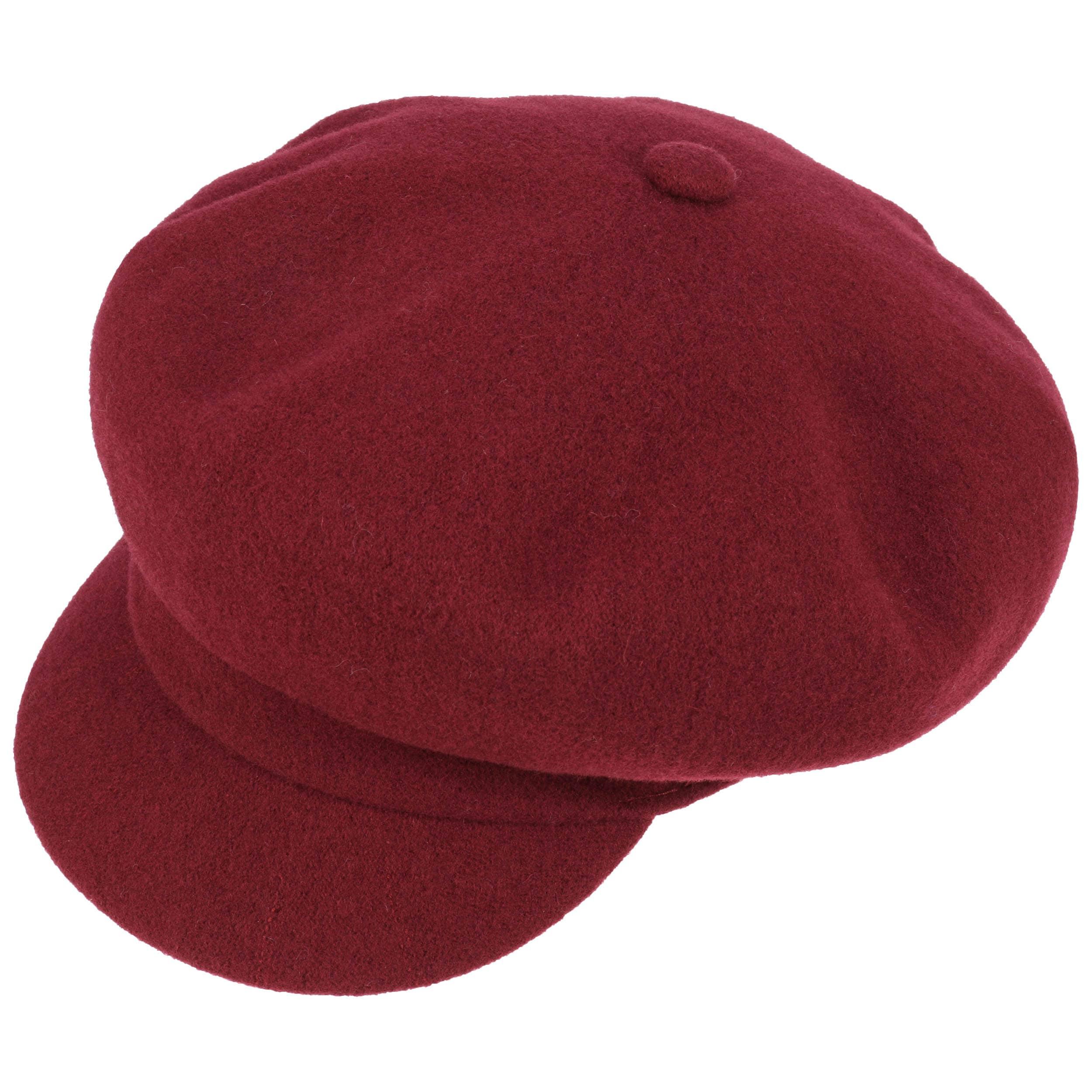 Wool Spitfire Newsboy Cap by Kangol - bordeaux 1 ... 9df641c2207