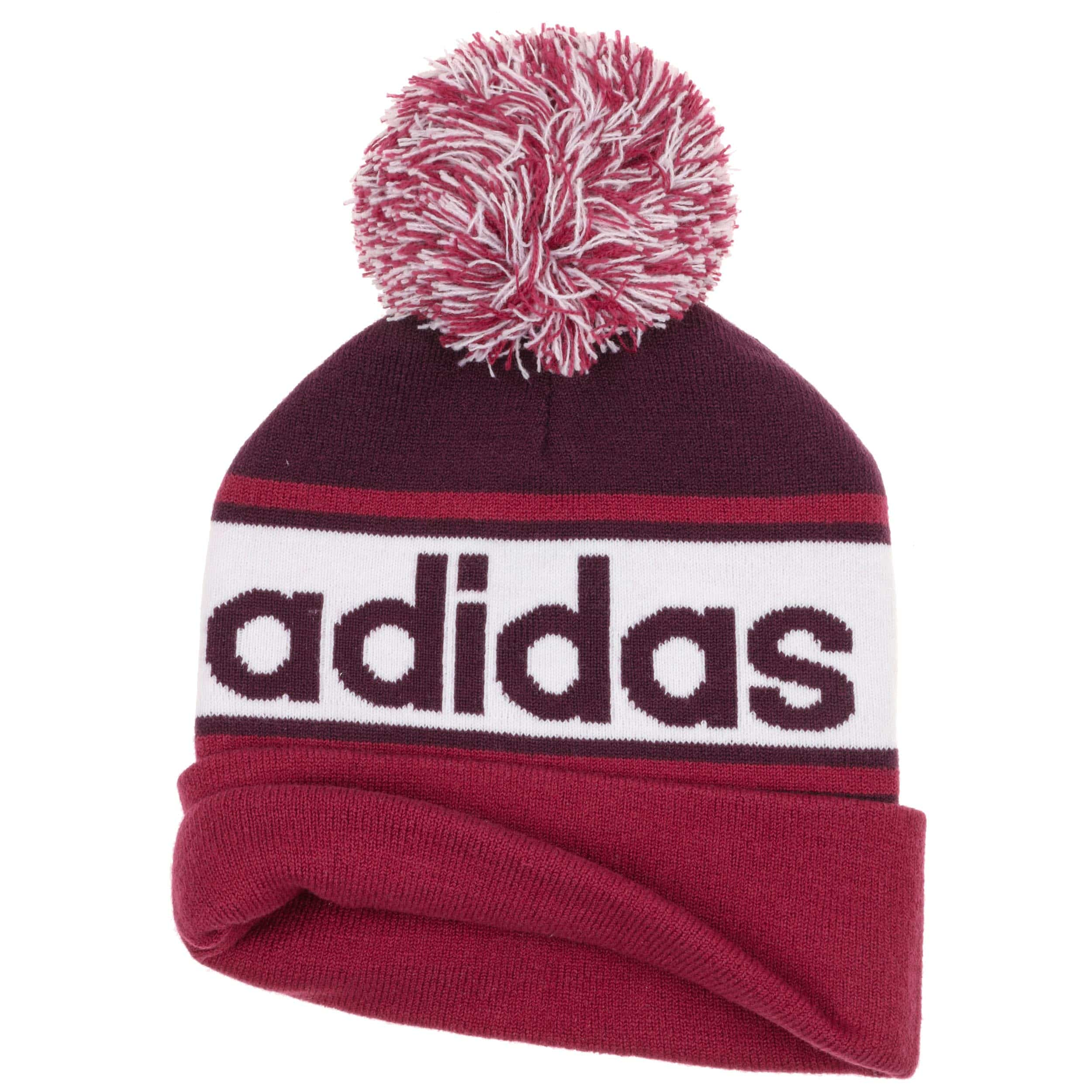 ... Woolie Beanie Pompom Hat by adidas - bordeaux 1 ... 1a941f4123f